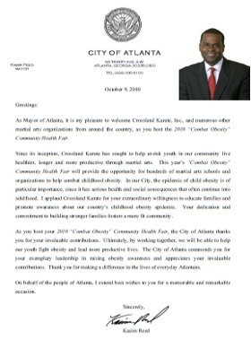 Mayor Reed Letter